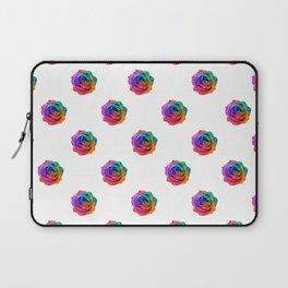 A Rainbow Rose Laptop Sleeve