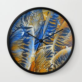 Blue Orange Abstract Wall Clock