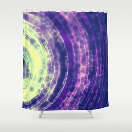 Green and Purple Abstract Shower Curtain