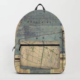 Vintage Utah Beach D-Day Invasion Map (1944) Backpack