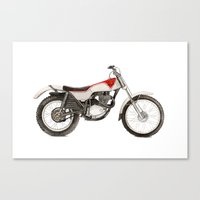 honda Canvas Prints featuring Honda TL250 by MrsSudo