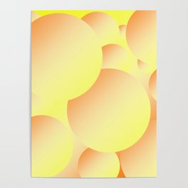 Sunny Bubbles Poster