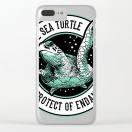Save the Sea Turtle Shirt Endangered Species tee Clear iPhone Case