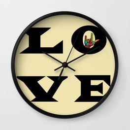 LOVE Typography Wall Clock