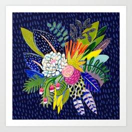 Night Glitter Art Print
