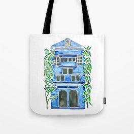 Tropical Blue House Tote Bag