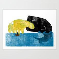 Whale Vom Art Print