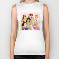 princess Biker Tanks featuring Smile for the Camera by Brianna