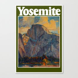 Vintage Yosemite National Park Canvas Print