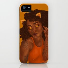 Golden Cat Lady iPhone Case