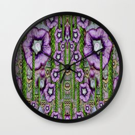Jungle fantasy flowers climbing to be in freedom Wall Clock
