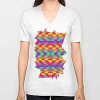 psychedelic V-neck T-shirts featuring Psychedelic by Texture