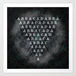 Abracadabra Reversed Pyramid in Charcoal Black Art Print
