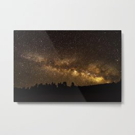 Above the Horizon - Milky Way Galaxy Above Treeline in Colorado Metal Print