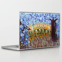 woodstock Laptop & iPad Skins featuring :: Indiana Blue Willow :: by :: GaleStorm Artworks ::
