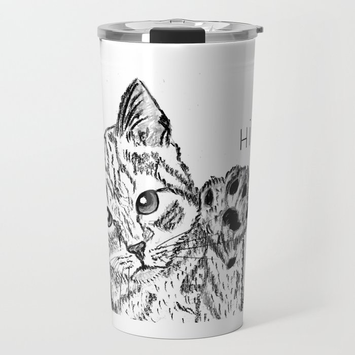 Kitten high five Travel Mug