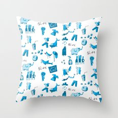 Blue Things Throw Pillow