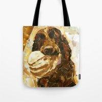 bucky Tote Bags featuring Bucky  by Maritza Hernandez