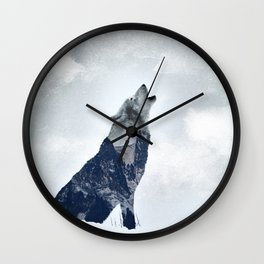 Wolf. Into the Wilderness Wall Clock