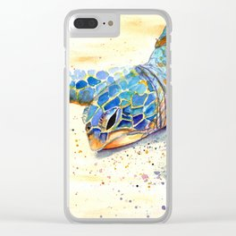 Turtle at Poipu Beach 4 Clear iPhone Case