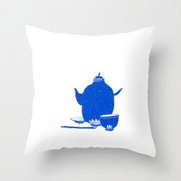 Tea Set Throw Pillow