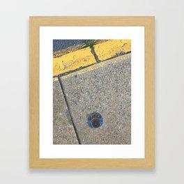 Blue Water Yellow Line Framed Art Print