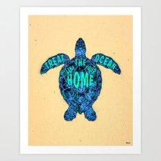 ocean omega Art Print