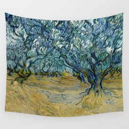 """Vincent Van Gogh """"The Olive Trees, Saint-Rémy"""" Wall Tapestry"""