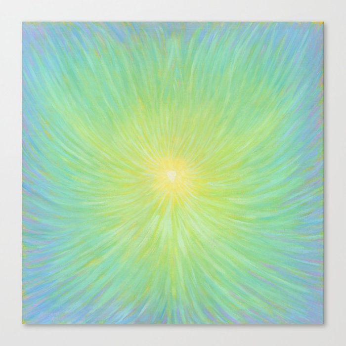 Radiance in Greens Canvas Print