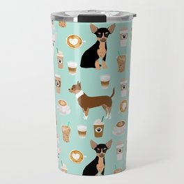 Chihuahua dog breed coffee pupuccino dog art chiwawas chihuahuas gifts Travel Mug