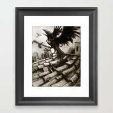 il Corvo Scappato Framed Art Print