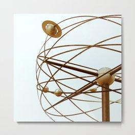 berlin world clock sculpture Metal Print