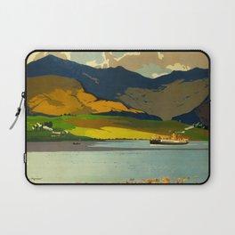 Loch Awe Vintage Mid Century Art Travel Poster British Railways Colorful Landscape Laptop Sleeve