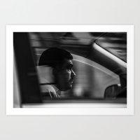 taxi driver Art Prints featuring Taxi driver by Nazariy Kryvosheyev