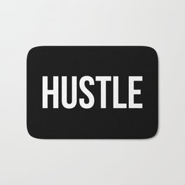 HUSTLE (Black & White) Bath Mat