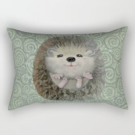 Cute Baby Hedgehog Rectangular Pillow