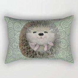 Cute Baby Hedgehog Rectangular Pillow