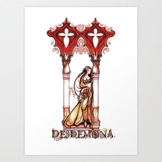 Desdemona - Othello Shakespeare Illustration Art Print