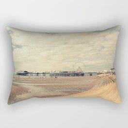Blackpool Beach Rectangular Pillow
