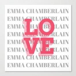 Ladies' Emma Chamberlain Youtube Vlogger Canvas Print