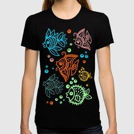 Fishes Batik Style Seamless Pattern T-shirt
