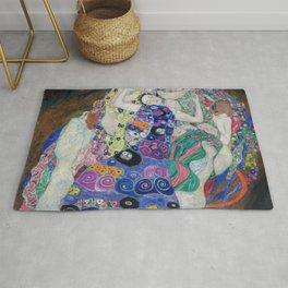 The Maiden Gustav Klimt Rug