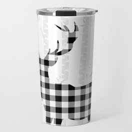 Buffalo Check Deer Travel Mug
