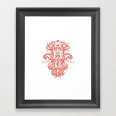 Harmony in Red Framed Art Print
