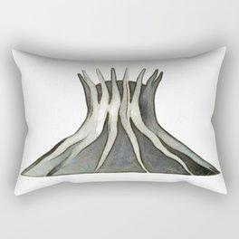 cathedral - landmark of Brasilia city Rectangular Pillow