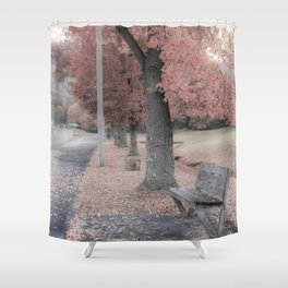 Candy Bench Shower Curtain