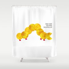 The Very Hungry Pacapillar Shower Curtain