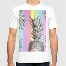 Pineapple Top Mens Fitted Tee White MEDIUM