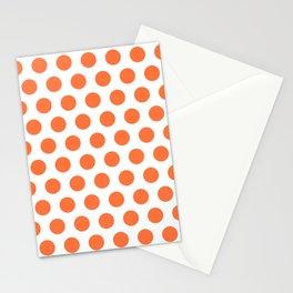 Orange and White Polka Dots 771 Stationery Cards