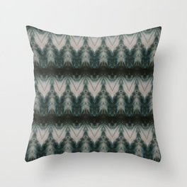 Shades of Green Shibori Throw Pillow